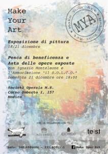 Dall'esperimento sociale alla solidarietà, domenica 21 l'asta di beneficenza di Make Your Art
