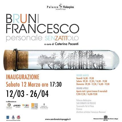 BRUNI FRANCESCO – Personale SENZA TITOLO