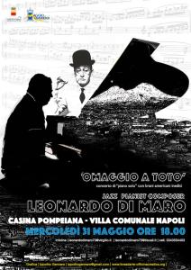 """Omaggio a TOTÒ, concerto di """"piano solo"""" com brani americani e inediti"""