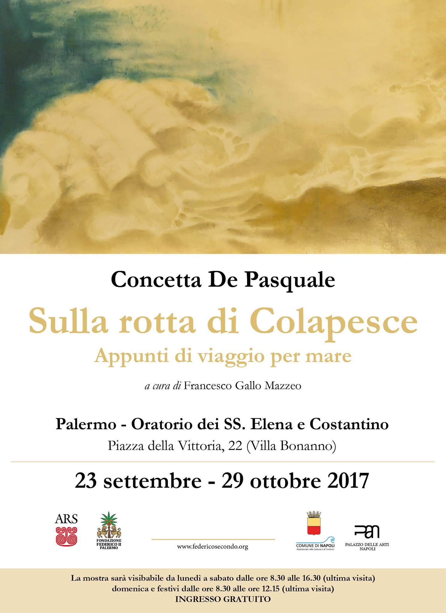 """Concetta De Pasquale """"Sulla rotta di Colapesce"""""""