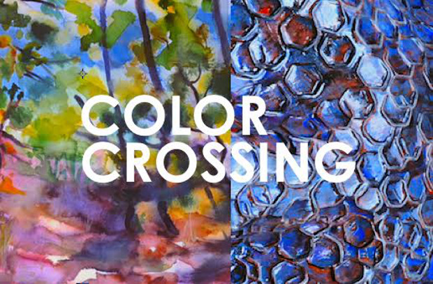 COLOR CROSSING painting & ceramic sculpture: Nina Eaton / out-side Mara van Wees / three-sides