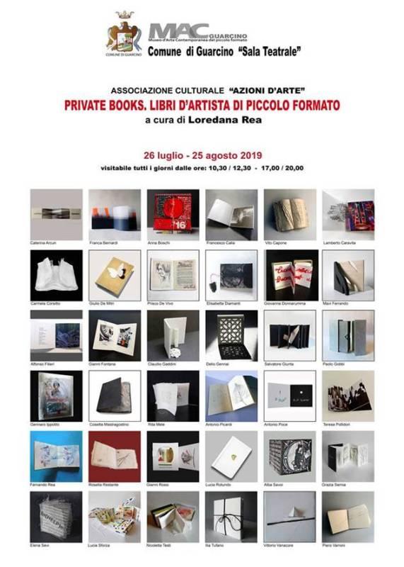 PRIVATE BOOKS. LIBRI D'ARTISTA DI PICCOLO FORMATO a cura di Loredana Rea