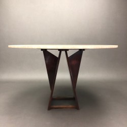 Table en travertin style Harvey Probber