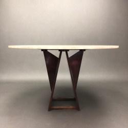 Table en travertin style Harvey Probber