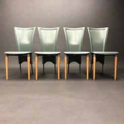 Lot de 4 chaises Ligne Roset cuir