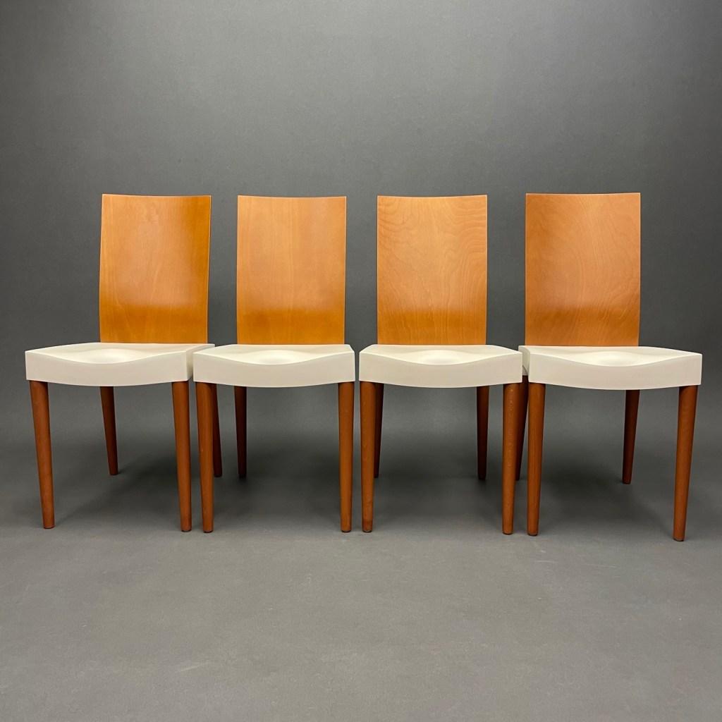 lot de 4 chaises miss trip philippe starck kartell 1