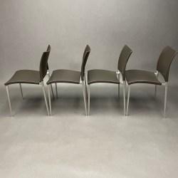 Lot de 4 chaises Sand Cuir Dondoli e Pocci Desalto