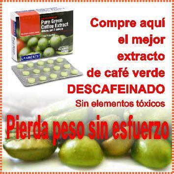 Propiedades de las capsulas de cafe verde para adelgazar
