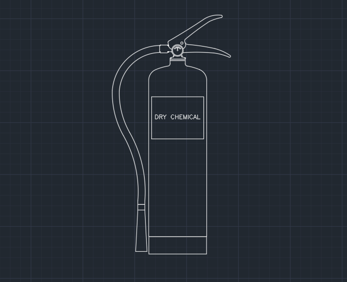 Fire Extinguisher (Dry Chemical) | | CAD Block And Typical