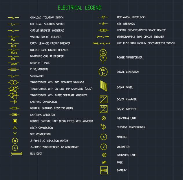 Electrical Legend Autocad Free Cad Block Symbols And