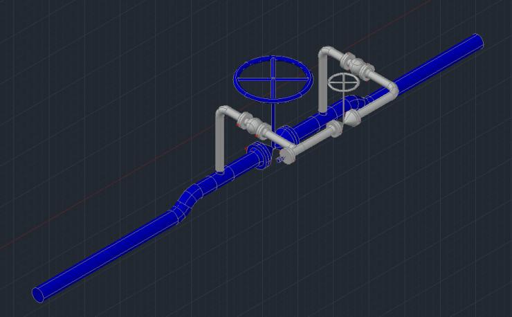 Natural gas block valve station