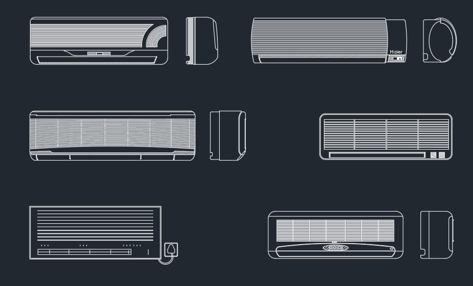 Air Conditioner Autocad Free Cad Block Symbol And Cad Drawing
