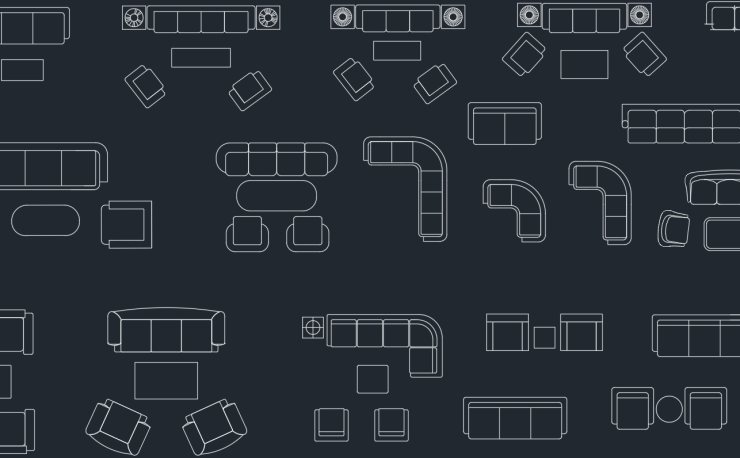 couches and sofas in plan