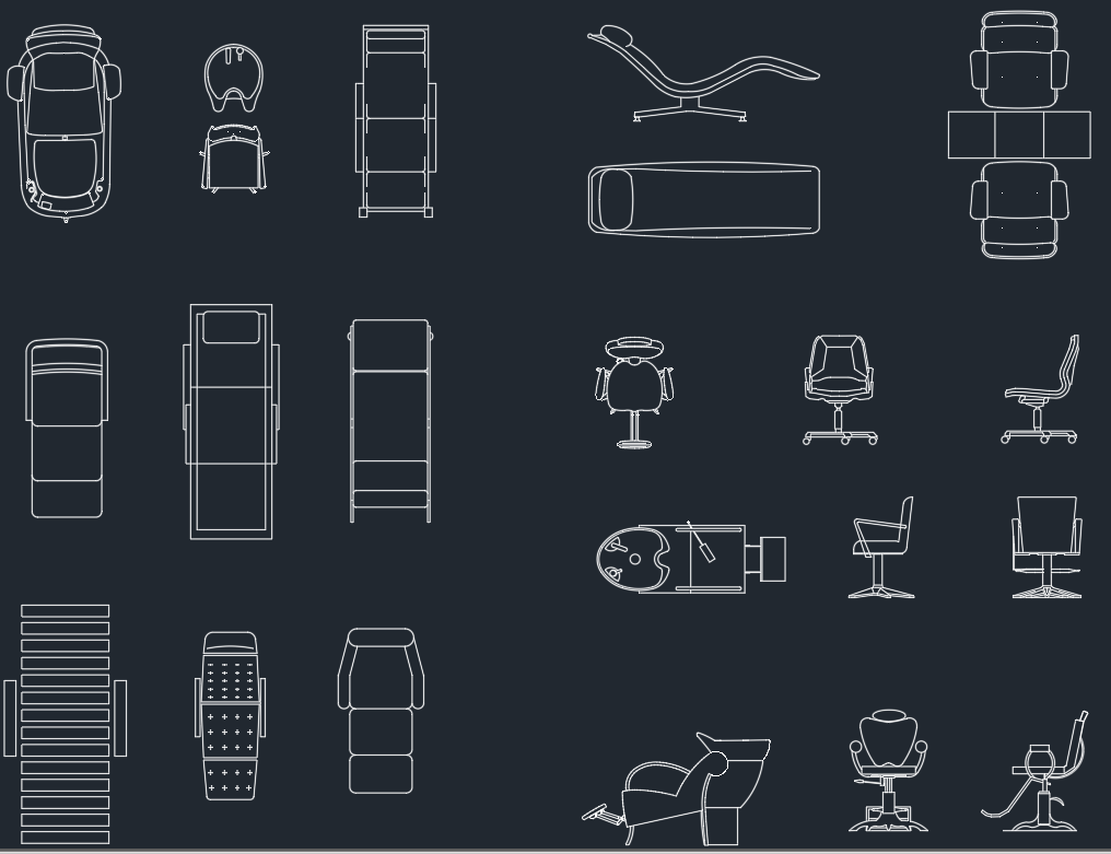 Furniture For Beauty Salon Free Cad Block Symbols And