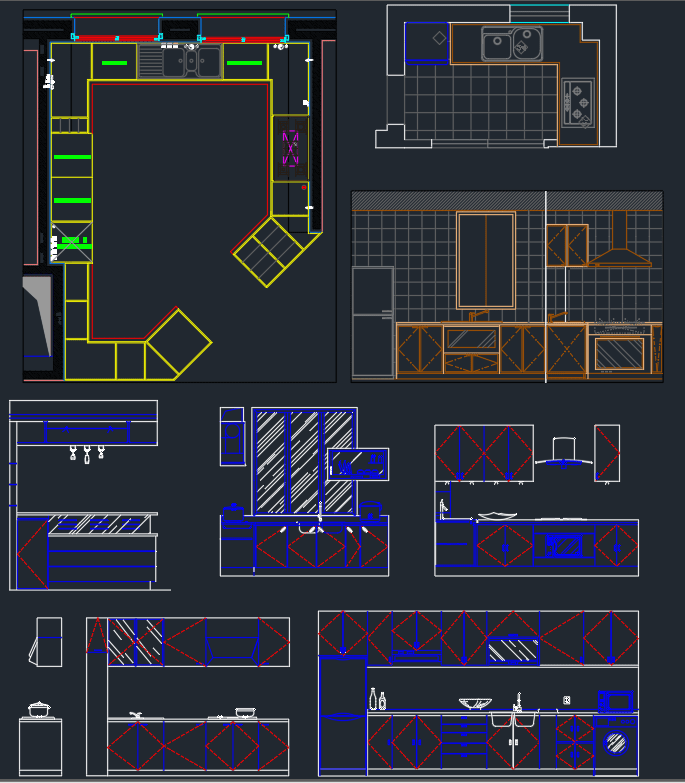Kitchen Design Elevation: AutoCAD Free CAD Block Symbols And CAD