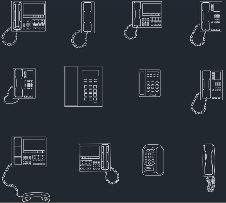 Phones Cad Blocks Cad Block And Typical Drawing For
