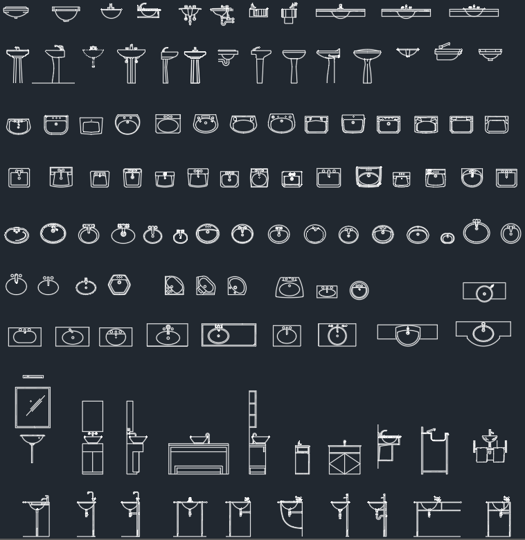 Sinks Cad Blocks Free Cad Block Symbols And Cad Drawing