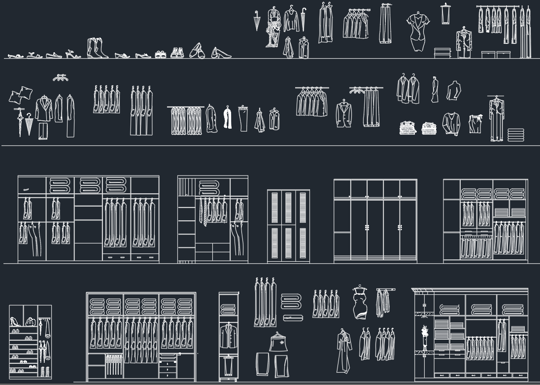 Wardrobe Cad Block And Typical Drawing For Designers