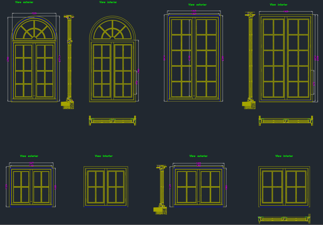 Windows plan elevation cad blocks free cad block and for Window elevation designs