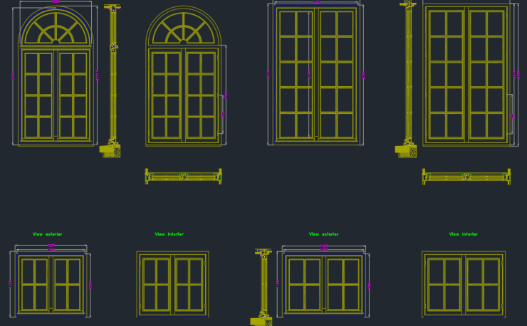 Windows Plan Elevation