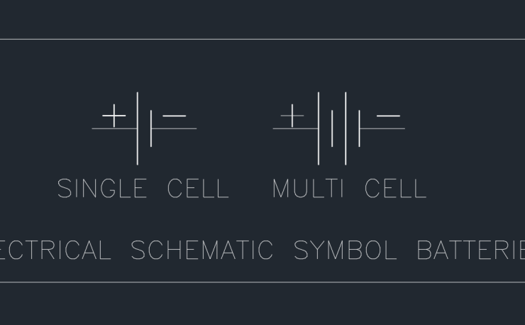 Electrical Schematic Symbol Batteries