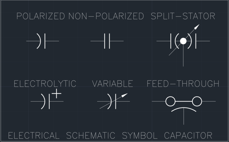 Electrical Schematic Symbol Capacitor