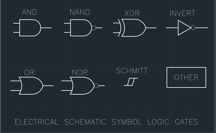 Electrical Schematic Symbol Logic Gates