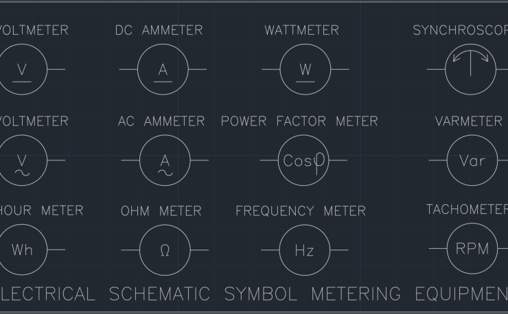 Electrical Schematic Symbol Metering Equipment