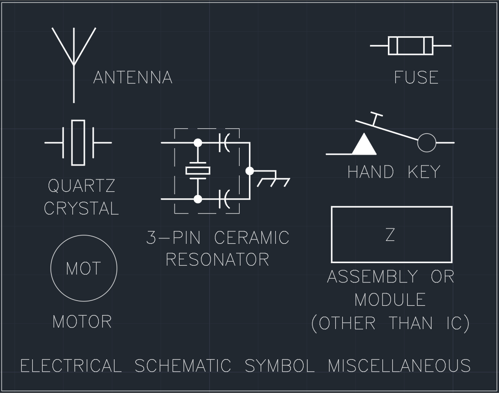 Electrical Schematic Symbol Miscellaneous | | Free CAD Blocks And ...