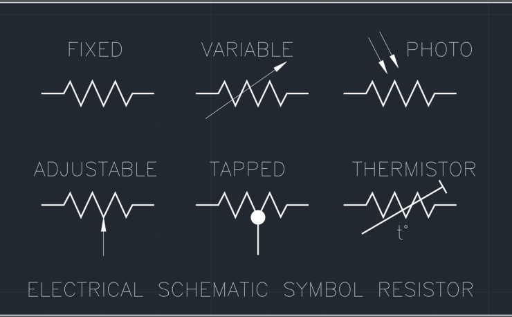 Electrical Schematic Symbol Resistor