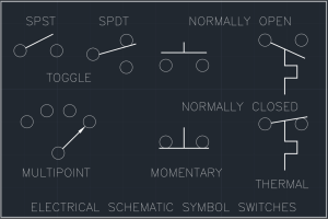 Switch Symbol | | Free CAD Block And AutoCAD Drawing
