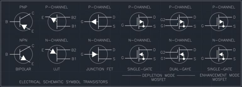 Electrical Schematic Symbol Transistors