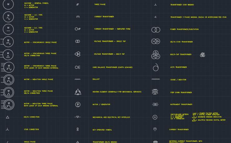 Electrical Symbols Transformers, Generators