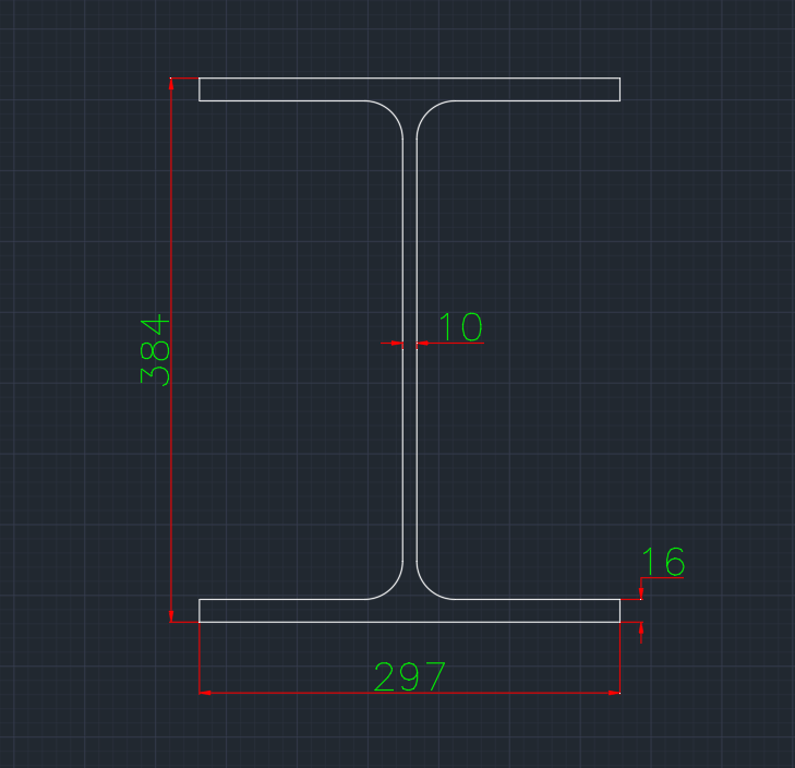 Wide Flange European (HE-WT) In dwg file format for AutoCAD and other 2D Software