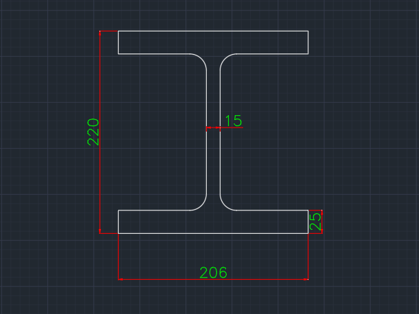 Wide Flange German (IPBV) In dwg file format for AutoCAD and other 2D Software