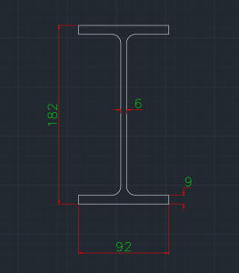 Wide Flange European (IPE-O) In dwg file format for AutoCAD and other 2D Software