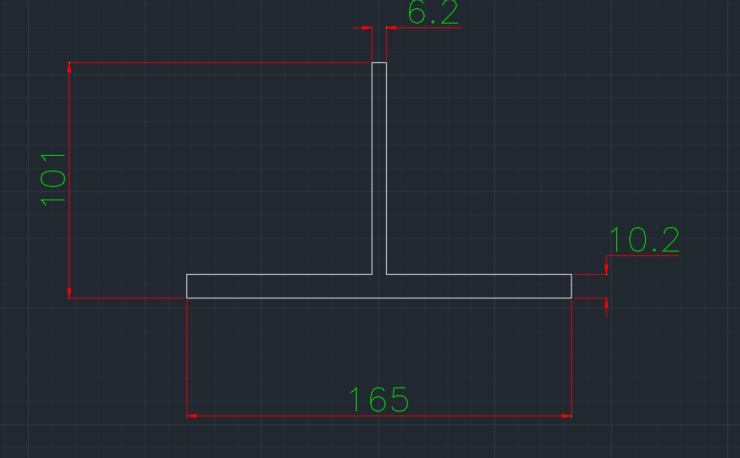 T-Section Canadian (WT) In dwg file format for AutoCAD and other 2D Software