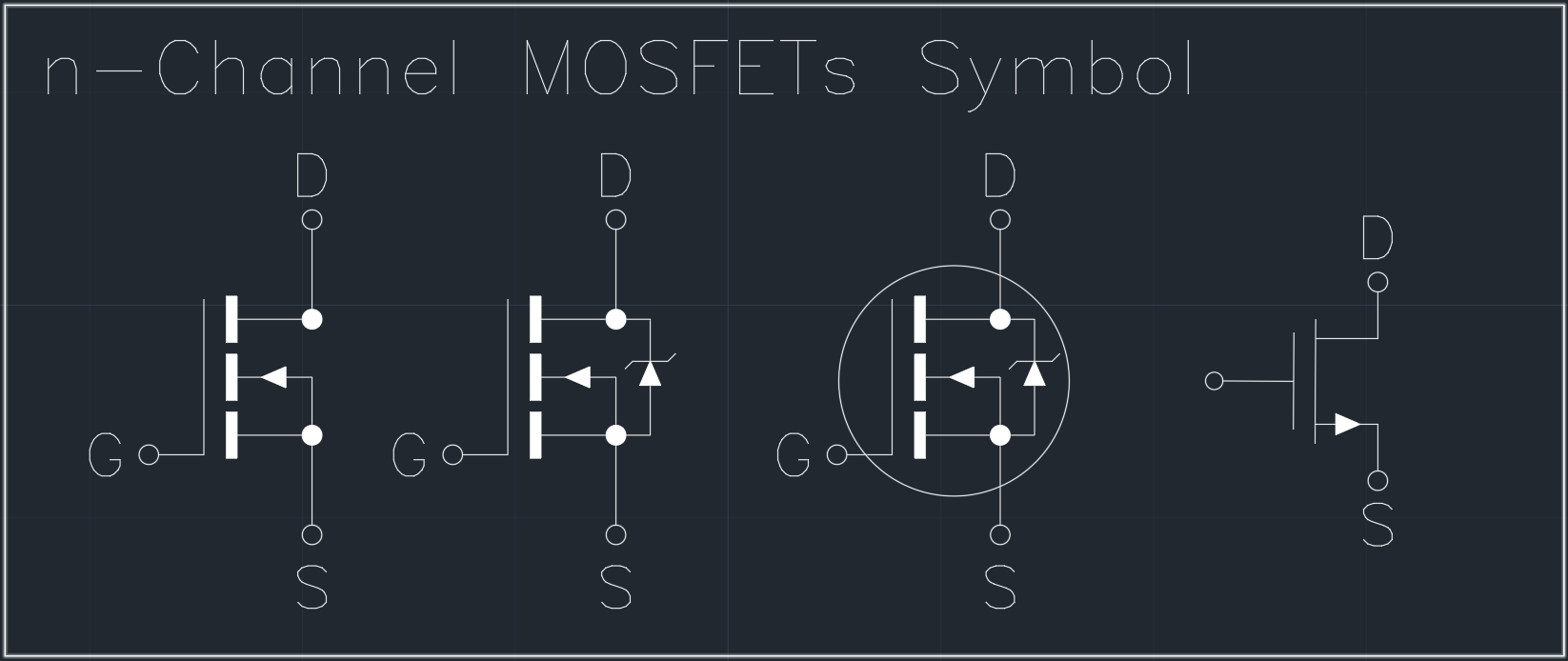 N Fet Schematic Symbol Electrical Wiring Diagrams Mosfetcircuitsymbols Channel Mosfets Autocad Free Cad Block Symbols And Amplifier