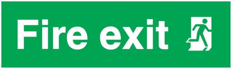 fire exit running man right