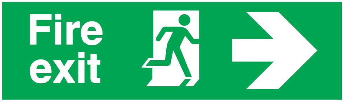 Fire Exit Running Man Right Arrow Right Autocad Free Cad Block