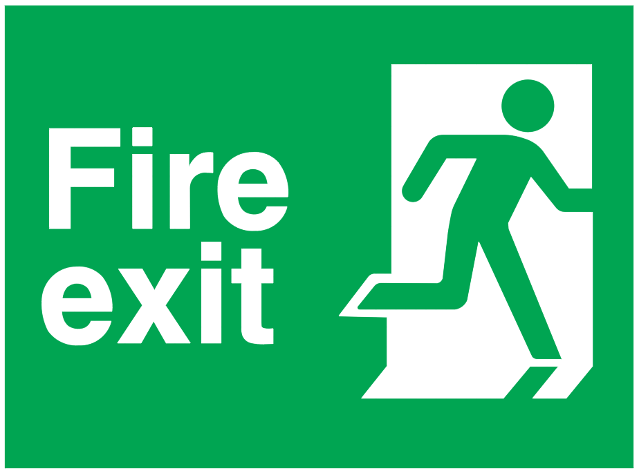 Fire Exit Running Man Right Sign Autocad Free Cad Block Symbols