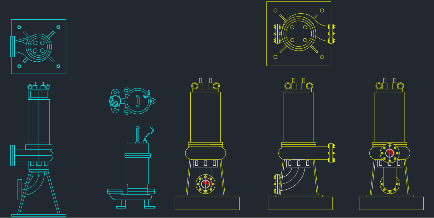 Submersible Pumps Free Cad Block Symbols And Cad Drawing
