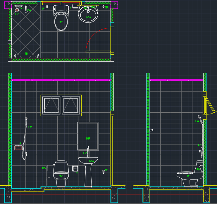 Bathroom Layout Autocad Free Cad Block Symbols And Cad