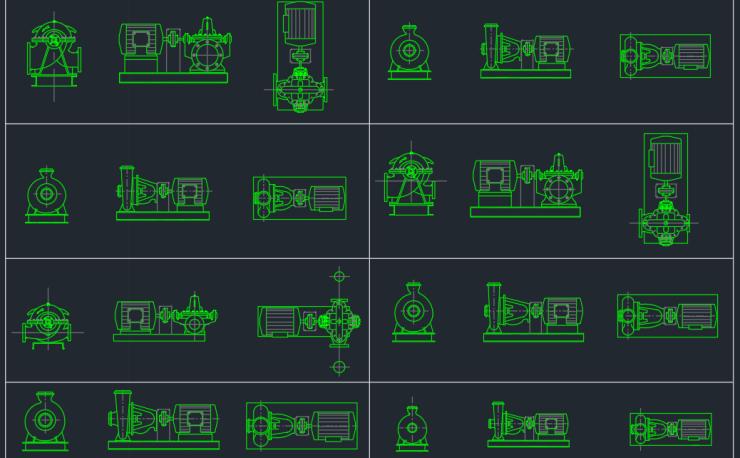 Booster Pump Autocad Free Cad Block Symbols And Cad