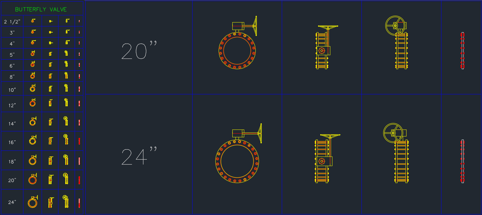Butterfly Valve Cad Drawing Autocad Free Cad Block