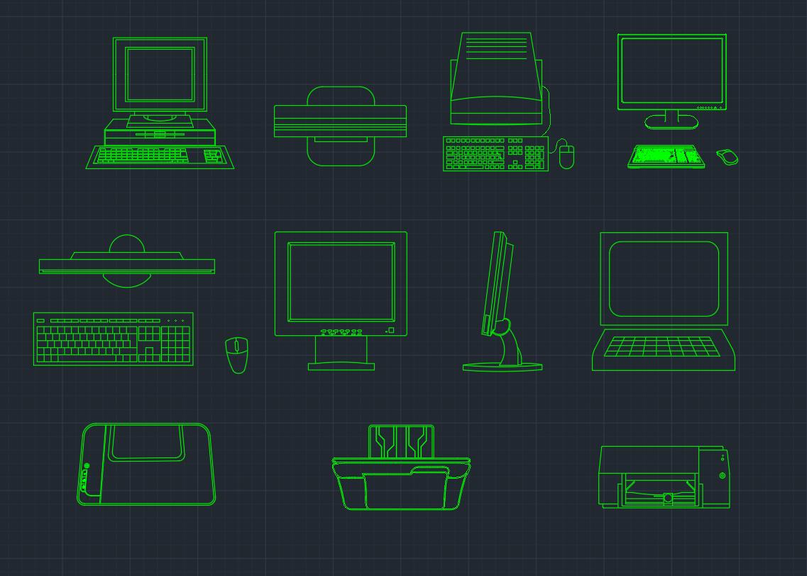 Computer CAD Block. AutoCAD ...