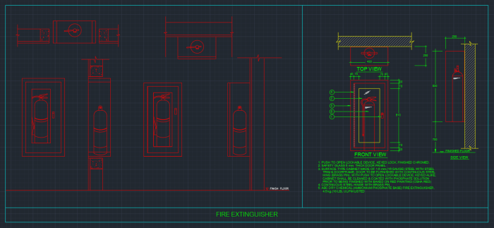 Fire Extinguisher Cabinets Autocad Free Cad Block Symbol And Cad