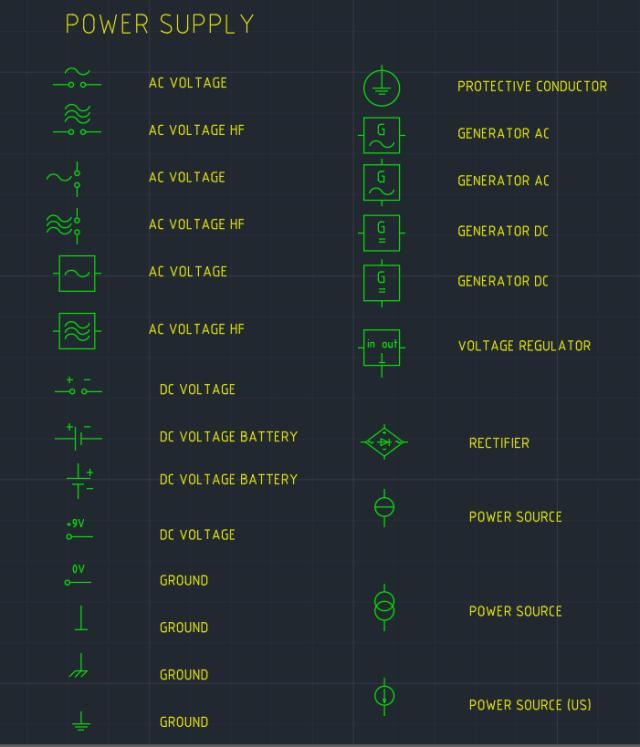 Power Supply Symbol Autocad Free Cad Block Symbols And Cad Drawing