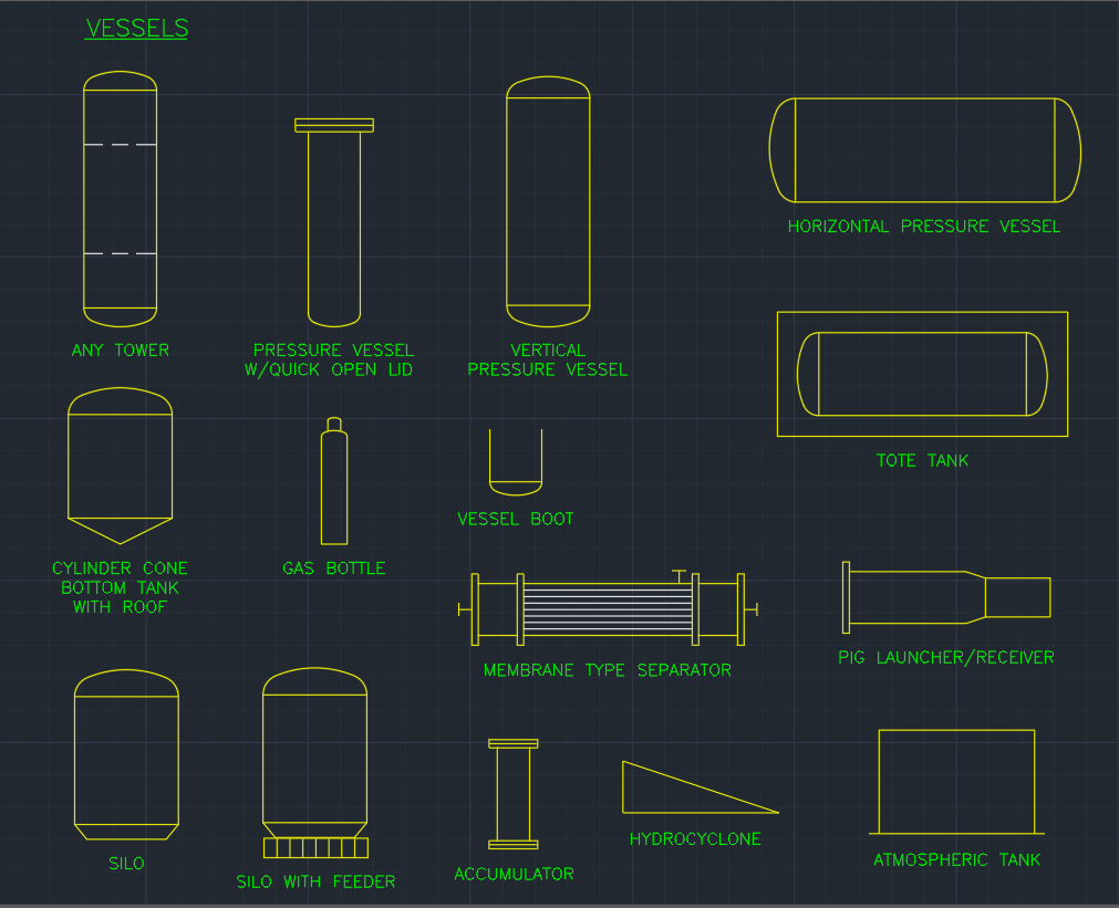 Vessels | | CAD Block And Typical Drawing For Designers