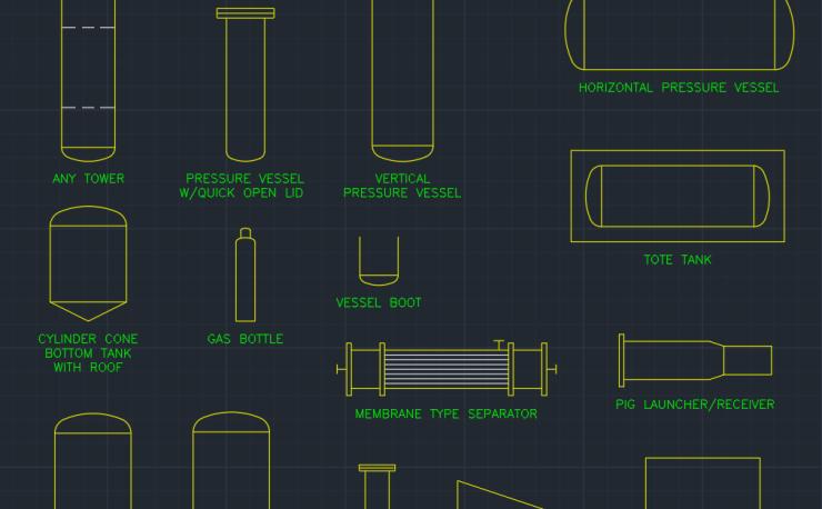 Process Equipment Symbols Cad Block And Typical